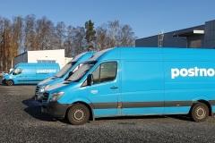 Distributionsbil för paketutkörning år PostNord.